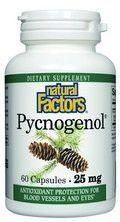 Pycnogenol- Pine Bark (25 mg 60 capsules)* Natural Factors