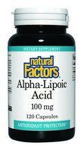 Alpha Lipoic Acid (100 mg 120 capsules)* Natural Factors