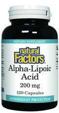 Alpha Lipoic Acid (200 mg 120 capsules)* Natural Factors