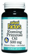 Evening Primrose Oil 500 mg/50 mg GLA (180 softgels)* Natural Factors