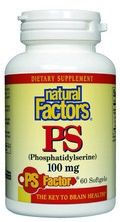 Phosphatidylserine - PS (100 mg 60 softgels)* Natural Factors