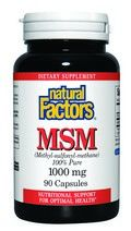 MSM (1000 mg 90 capsules)* Natural Factors
