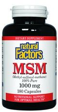 MSM (1000 mg 180 capsules)* Natural Factors