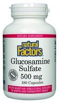 Glucosamine Sulfate (500 mg 180 capsules)* Natural Factors