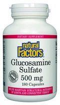 Glucosamine Sulfate (500 mg 180 capsules)* Natural Factors