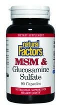 MSM & Glucosamine Sulfate (90 capsules)* Natural Factors