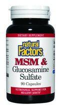 MSM & Glucosamine Sulfate (90 capsules)* Natural Factors
