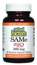 SAMe 200mg (30 tablets)* Natural Factors