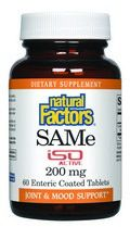 SAMe 200mg (60 tablets)* Natural Factors