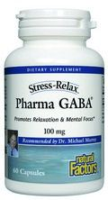 StressRelax PharmaGABA (60 capsules)* Natural Factors