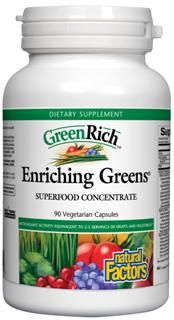 Enriching Greens, Superfood Concentrate (150 Vcaps)* Natural Factors