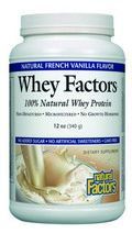 Whey Factors Powder Drink Mix ( French Vanilla 12 oz)* Natural Factors