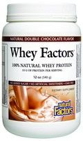 Whey Factors Powder Drink Mix (Natural Double Chocolate Flavor 12 oz)* Natural Factors