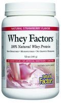 Whey Factors Powder Drink Mix (Natural Strawberry Flavor 12 oz)* Natural Factors