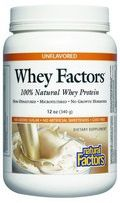 Whey Factors Powder Drink Mix (Unflavored 12 oz)* Natural Factors