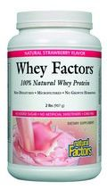 Whey Factors Powder Drink Mix (Natural Strawberry Flavor 2 lbs)* Natural Factors