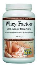 Whey Factors Powder Drink Mix (Natural Double Chocolate Flavor 2 lbs)* Natural Factors