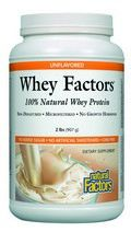 Whey Factors Powder Drink Mix (Unflavored 2 lbs)* Natural Factors