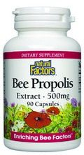 Bee Propolis Extract (500mg 90 capsules)* Natural Factors