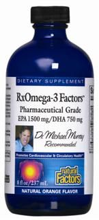 RxOmega-3 Factors Liquid (Orange, 8 oz)* Natural Factors