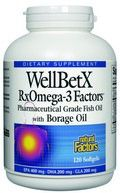 WellBetX RxOmega-3 Factors with Borage Oil (120 softgels)* Natural Factors