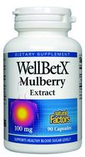 WellBetX Mulberry Extract (90 capsules) Natural Factors