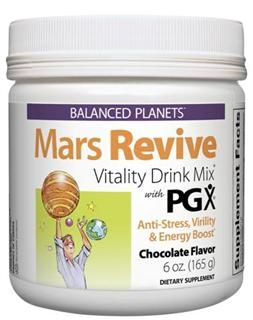 Mars Revive with PGX Powder - Vitality Drink Mix (Choc 6 oz)* Natural Factors