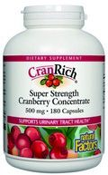 CranRich Super Strength Cranberry Concentrate (500 mg 180 capsules)* Natural Factors