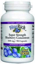 BlueRich Super Strength Blueberry Concentrate (500 mg 90 capsules)* Natural Factors