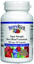 BerryRich Super Strength Berry Blend Concentrate (90 capsules)* Natural Factors