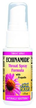 Echinamide Throat Spray with Propolis (1 oz)* Natural Factors