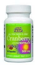 Cranberry Concentrate (500mg 30 capsules)* Natural Factors