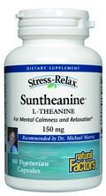 StressRelax Suntheanine  L-Theanine (125 mg 60 Vcaps)* Natural Factors