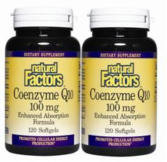 Coenzyme Q10 100mg (Bonus Pack) 120 + 120 Softgels* Natural Factors