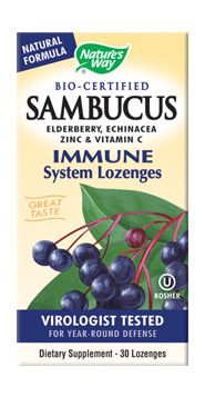 Sambucus Original Bio-Certified Elderberry Lozenges (30 pcs) Nature's Way