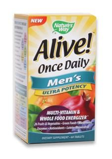Alive Once Daily |Men's Ultra Potency (60 tabs) Nature's Way