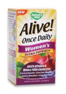 Alive Once Daily |Women's Ultra Potency (60 tabs) Nature's Way