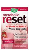 Metabolic ReSet Strawberry ( 1 carton of 10 Packets  ) Nature's Way
