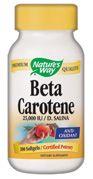 Natural Beta Carotene  (100 softgel ) Nature's Way