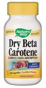 Dry Natural Beta Carotene  ( 100 capsules  ) Nature's Way