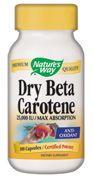 Dry Natural Beta Carotene  ( 100 capsules  ) Nature's Way