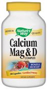 Calcium, Magnesium, Vitamin D  ( 100 capsules ) Nature's Way