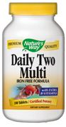 Daily Two Multi (iron-free)  ( 180 tablets ) Nature's Way