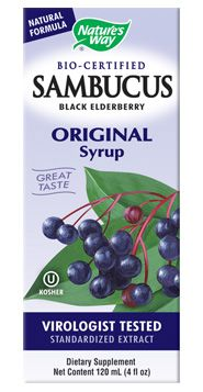 Sambucus Black Elderberry Syrup (4oz) Nature's Way