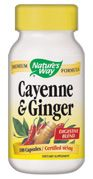 Cayenne & Ginger (100 capsules) Nature's Way
