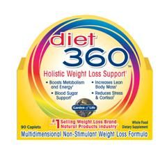 Diet 360 (90 Caplets) Garden of Life