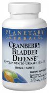 Cranberry Bladder Defense (120 tablets) Planetary Herbals