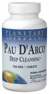 Deep Cleansing Pau D'Arco (72 tablets) Planetary Herbals