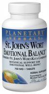 Emotional Balance with St. John's Wort  (120 tablets) Planetary Herbals