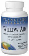 Willow Aid (30 tablets) Planetary Herbals
